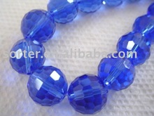 decorative blue color crystal ball jewelry crystal ball beads chain