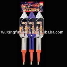 Sky Storm Rocket Fireworks/ consumer rocket/flying rockets