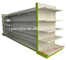 Flat Back Pannel Double-side Supermarket Shelf, gondola shelving