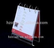 Aolan-Acrylic desk calendar Acrylic standing calendar folding desk calendar
