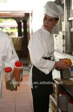 white chef uniform+women sexy chef coat#kitchen chef clothing*design in western style