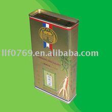 tall rectangular tin box for medicine