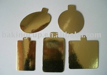 1.0mm silver and gold Cake Board Cake Pad