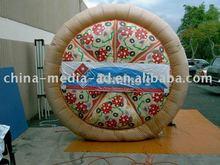 Pizza promo inflatable/book design