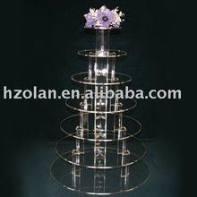 acrylic wedding cake stand
