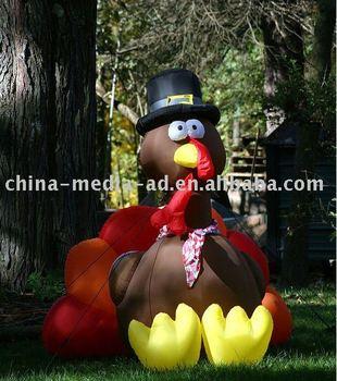 thanksgiving day inflatable turkey cartoon