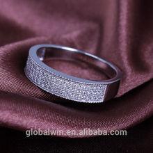 Fine 925 Sterling Silver Jewelry Clear Zircon Ring