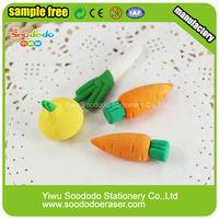 Kid toy vivid vegetable Carrot Mini eraser
