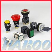 metal waterproof electronical ip65 illuminated led push button switch 6V,12V,24V,110V,220V,