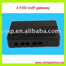 4 FXS VoIP gateway,support H323,SIP,VLAN and QoS