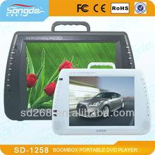 7'' -16''Portable DVD Player+TV+MP4+USB+GAME+AV+MMC+Battery+1 Year warranty