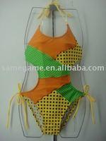 2014New Designed, Baby Girls' fashion swimwear, kid's fashion one-piece swimsuit, wholesale price