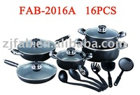 16pcs Cookware Sets With Powder Coating