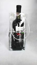 2014 China Eco-friendly Waterproof Plastic Wine ice Bag With Handle