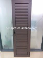 Exterior Wood color aluminum plantation shutters