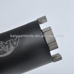 Long life granite perforate diamond core drill bits