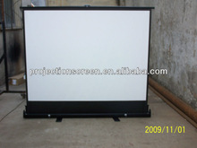Pull Up Floor Projection Screen portable & UP/DOWN smoothly & flatly