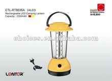 Lontor Brand 24 LED Rechargeable Camping Lantern Emergency Lantern