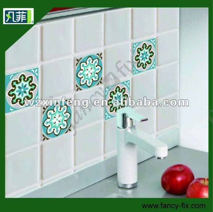 Azulejos Para Baños Adhesivos:Tile Tattoos for Kitchen 3 X 6