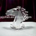 Elegante cristal caballo, Cristal figuras de animales, Cristal de la cabeza de caballo