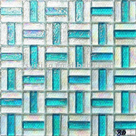 glassa colorata decorazione interna della parete di vetro di cristallo mosaico striscia