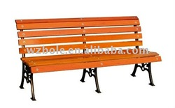 hot sell classic style wooden bench leisure chair for park,garden and yard