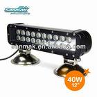 "12"" 40W off road headlight auto LED light bar crane truck working lamp SM6022-40"
