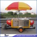 2014 colorido de acero inoxidable carros de perros calientes jx-hs230 de nuevo estilo
