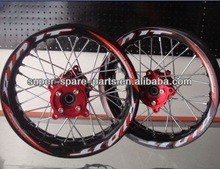 dirt bike motor bike alloy rims and tyre with CNC Hub