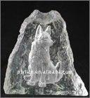 matte crystal iceberg engraved animal figurine iceberg sculpture