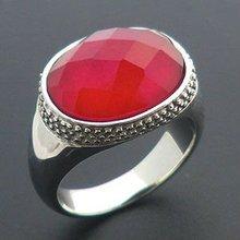 2015 fashion imitation unique red ruby steel ring