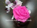 Forma de flor de plástico decorativa plástica artificial flor