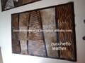 Novo design do tapete de couro de cabelo em couro/tiger imprimir couro tapete