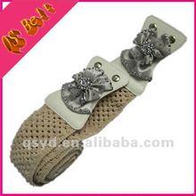 women`s snap button elastic belt