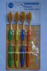 soft bristles&rubber grip 329-4 nano gold toothbrush