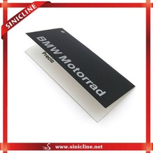 Factory Outlet middle folded printed black paper card with a hole for garmnets