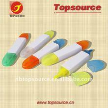 Mini Cheap Plastic Portalbe Colorful School Highlighter Eraser for promotion
