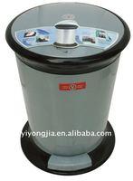 9L Indoor Plastic Pedal Bin/plastic foot pedal waste bin/pedal dustbin