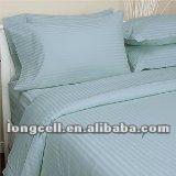 100% cotton sateen stripe hotel bedding set for 4stars