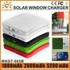 1800mAh/ 2600mAh/5200mAh solar mobile phone charger/mobile solar charger/solar cell charger for iphone 6