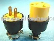 ABS or Nylon American style 125V plug electrical plug socket