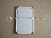Plastic Cutting Board with four TPR anti-slip function corner