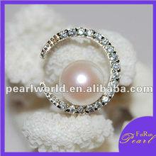 moon light shape fashion pearl pendant designs