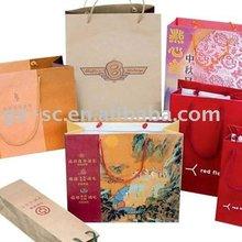 Printable custom made china supply Wine Packaging Bags