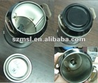 Metal Milk Can with Pencil Sharpener Insert Base