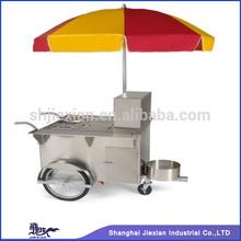 2014 JX-HS110 Mobile Hot Dog Cart hand pushing cart food trailer food van