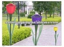 Plastic Tulip Flower Light For Garden LK20128