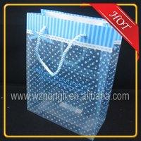 PP dot printed beautiful rope handle gift bag/shopping bag