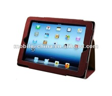 For ipad mini PU leather Case Cover and Flip Stand with Elastic Hand Strap and Premium fiber Interior - Auto Wake and sleep