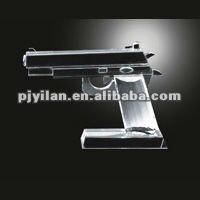 elegante kristall musikalische schöne spielzeug modell 3d kristall pistole modell
